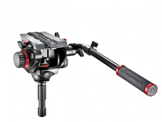 Manfrotto Pro Fluid Video-Neiger mit 75 mm Halbkugel und 504PLONG Nr. 504HD