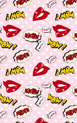 Click Props Hintergrund Vinyl mit Bild Lips Pink 1,52 x 2,44m Nr. CP-590907