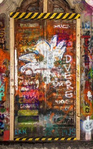 Click Props Hintergrund Vinyl mit Bild Graffiti Door 2 1,52 x 2,44m Nr. CP-590807