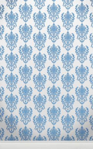 Click Props Hintergrund Vinyl mit Bild Damask W Blue 1,52 x 2,44m Nr. CP-591447