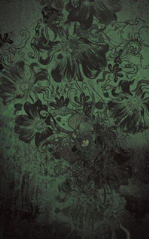 Click Props Hintergrund Vinyl mit Bild Flowerbomb Green 1,52 x 2,44m Nr. CP-591297