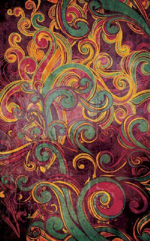 Click Props Hintergrund Vinyl mit Bild Floral Swirls Purple 1,52 x 2,44m Nr. CP-591267
