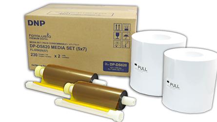 DNP Papier DM57620 2 Rollen je 230 St. 13x18 für DS620 Nr. FE-670607