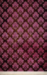 Click Props Hintergrund Vinyl mit Bild Damask Dark Pink 1,52 x 2,44m Nr. CP-591422