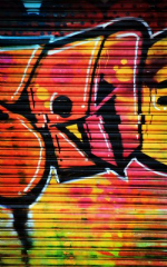 Click Props Background Vinyl with Print Shutter Graffiti 1 1.52 x 2.44M No. CP-590812