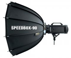 SMDV Dodecagonal Speedbox Softbox 90cm für Blitzgeräte mit Bowens Bajonett Nr. SMDV-2858