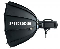 SMDV Dodecagonal Speedbox Softbox 80cm für Blitzgeräte mit Bowens Bajonett Nr. SMDV-2864