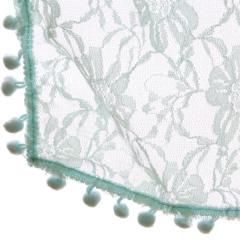 Newborn Bobble Spitzen Wickel Teal BLWT 50 x 70 cm Nr. FE-599072