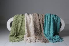 Newborn Tassel Blanket Teal TBT 127 x 178 cm No. FE-599258