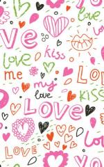Click Props Hintergrund Vinyl mit Bild Love & Kisses 1,52 x 2,44m Nr. CP-590912